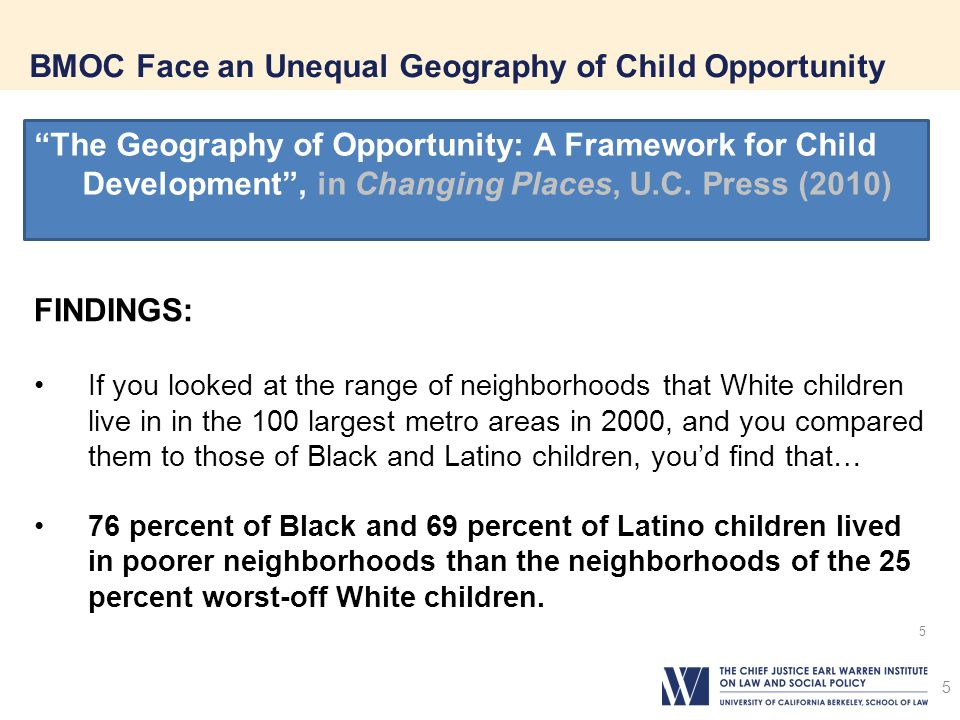 BMOC Face an Unequal Geography of Child Opportunity