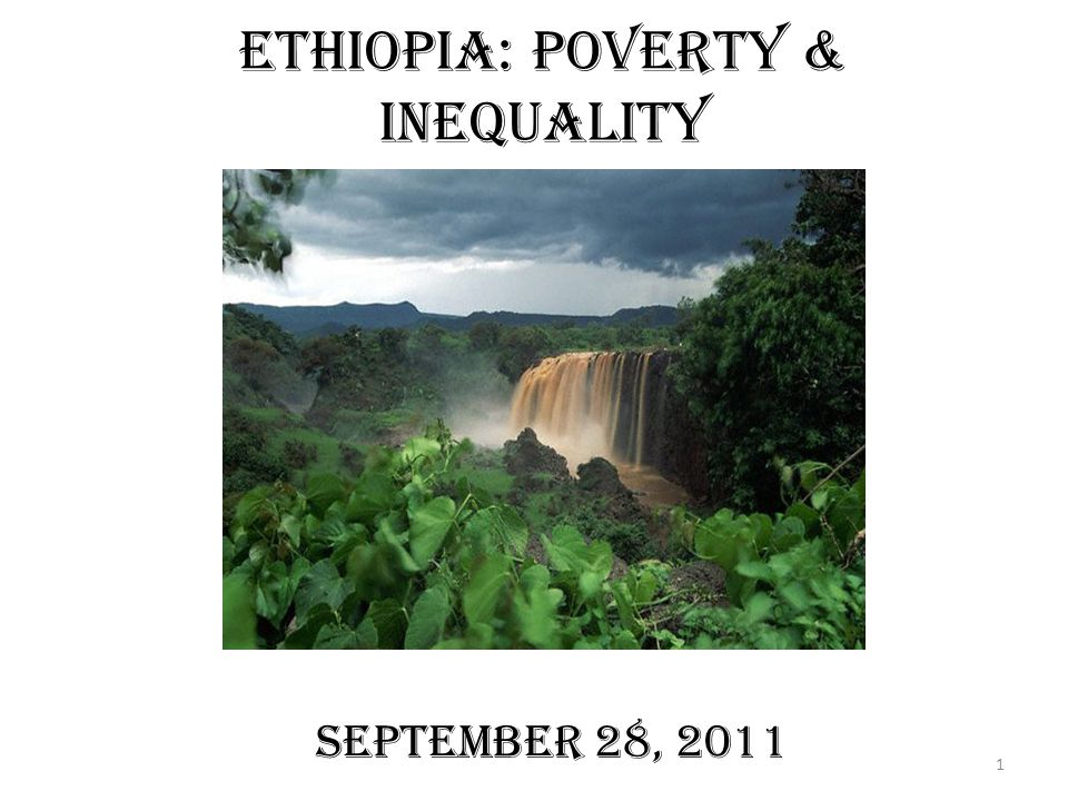 Ethiopia: Poverty & Inequality