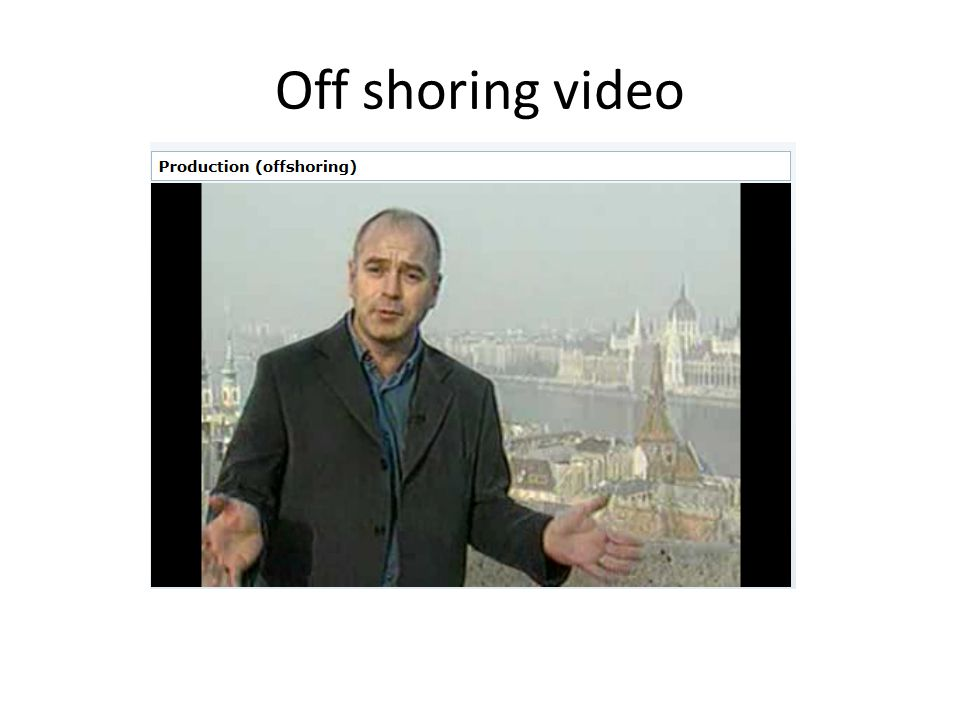 Off shoring video