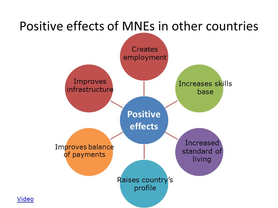 Positive effects of MNEs in other countries