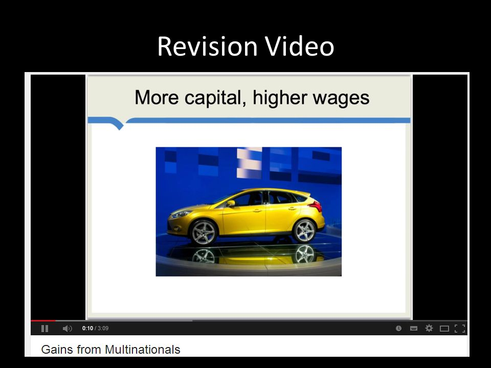 Revision Video Ignore the term agglomeration spillovers!