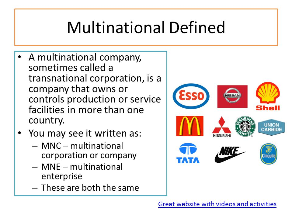 Multinational Defined