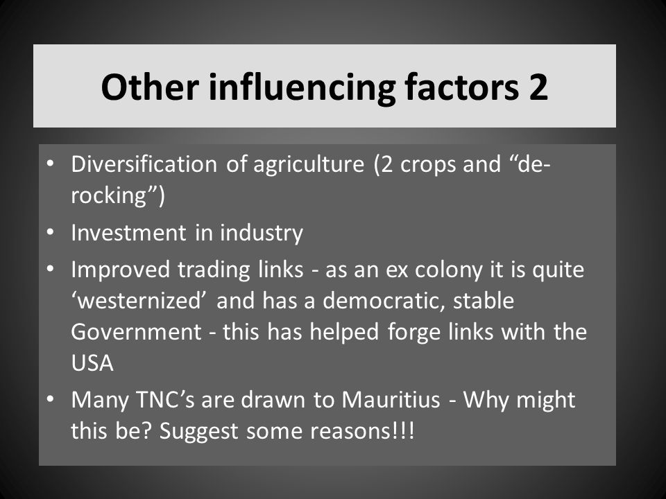 Other influencing factors 2