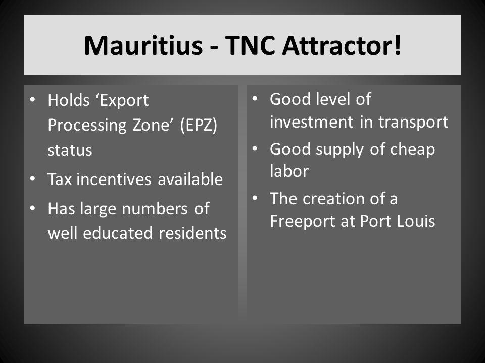 Mauritius - TNC Attractor!