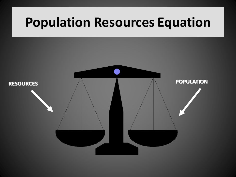 Population Resources Equation