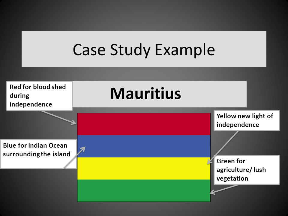 Case Study Example Mauritius Red for blood shed during independence