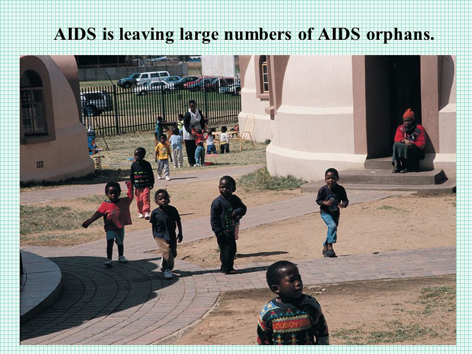 AIDS is leaving large numbers of AIDS orphans.