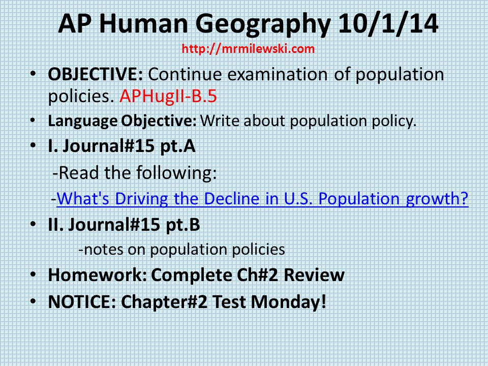 Ap human geography chapter 1 14 vocabulary and notes