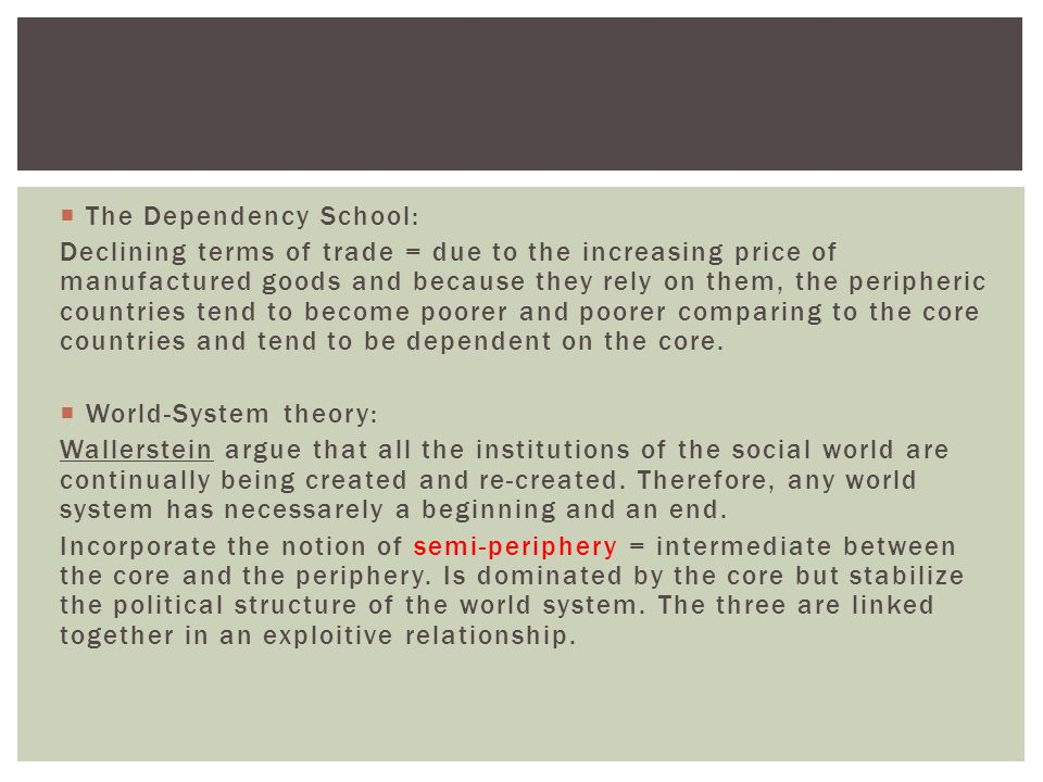 The Dependency School:
