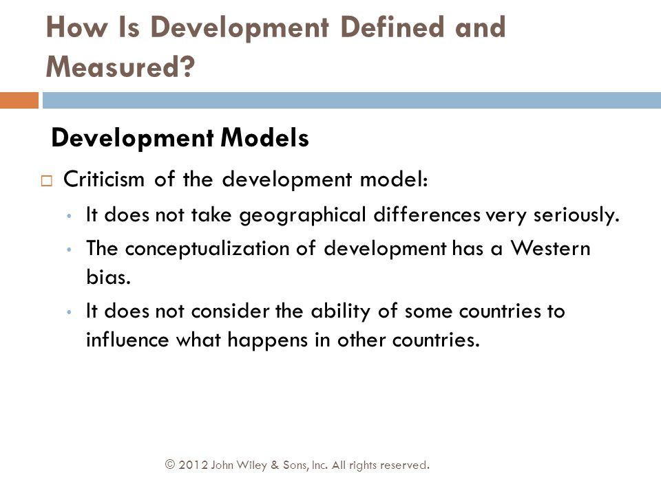 How Is Development Defined and Measured