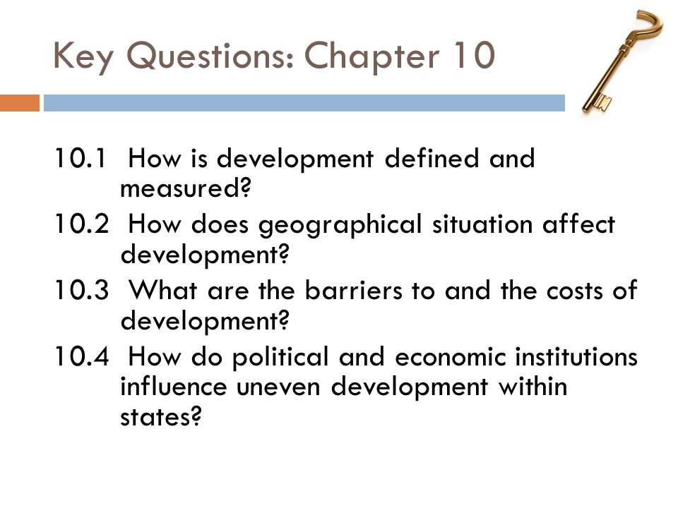 Key Questions: Chapter 10