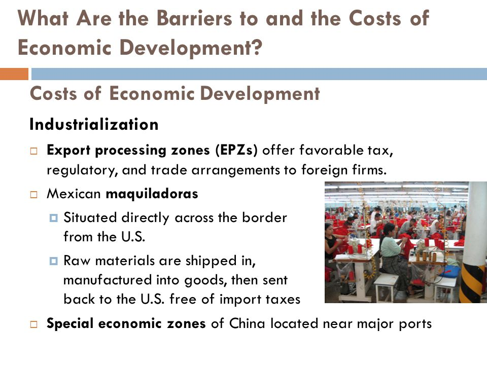 Costs of Economic Development