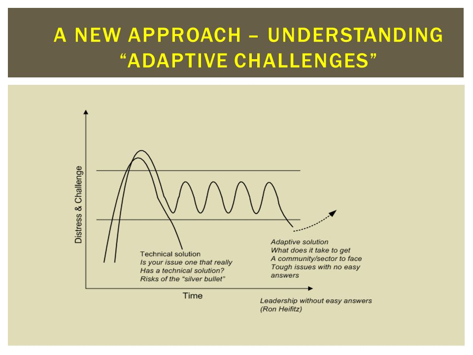 A new approach – understanding adaptive challenges