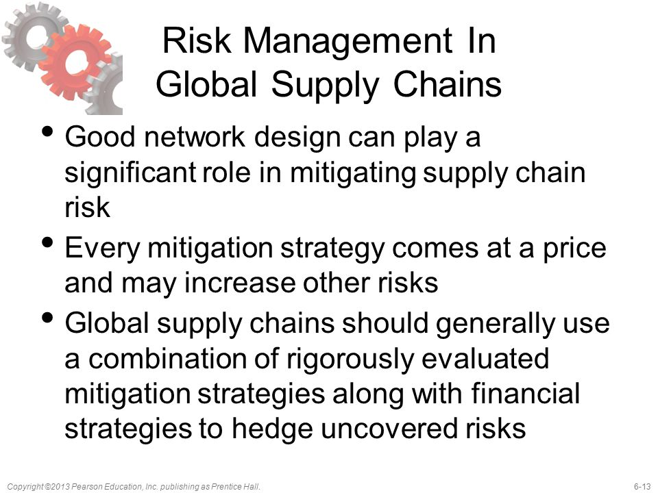 Risk Management In Global Supply Chains