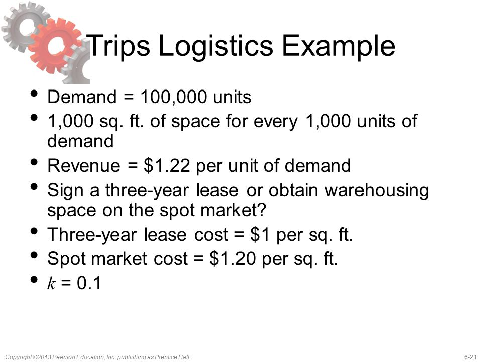 Trips Logistics Example
