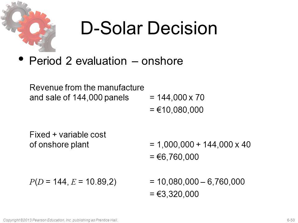 D-Solar Decision Period 2 evaluation – onshore