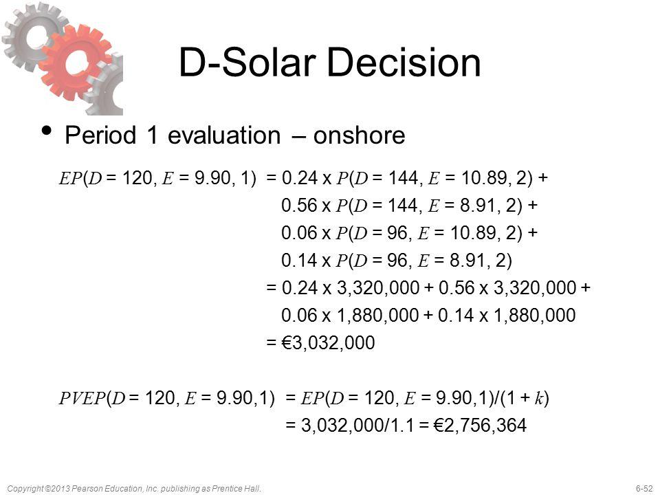 D-Solar Decision Period 1 evaluation – onshore