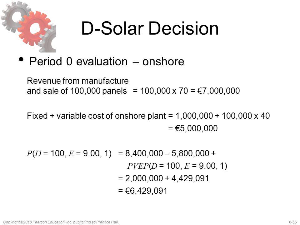 D-Solar Decision Period 0 evaluation – onshore