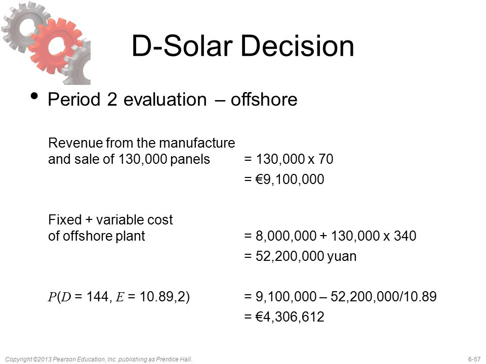 D-Solar Decision Period 2 evaluation – offshore