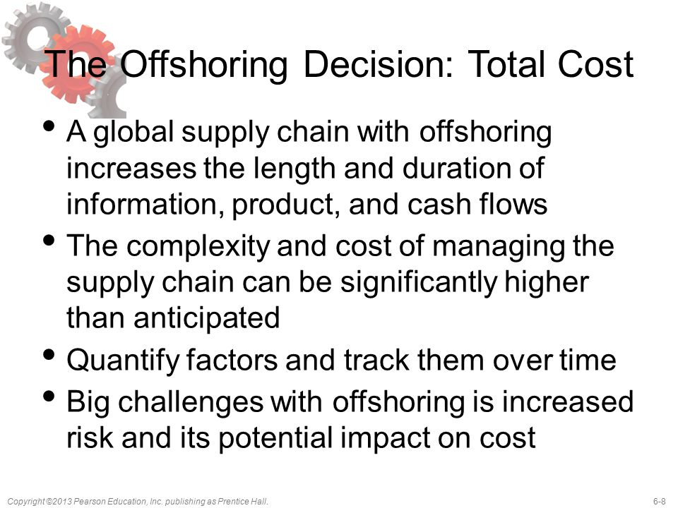 The Offshoring Decision: Total Cost