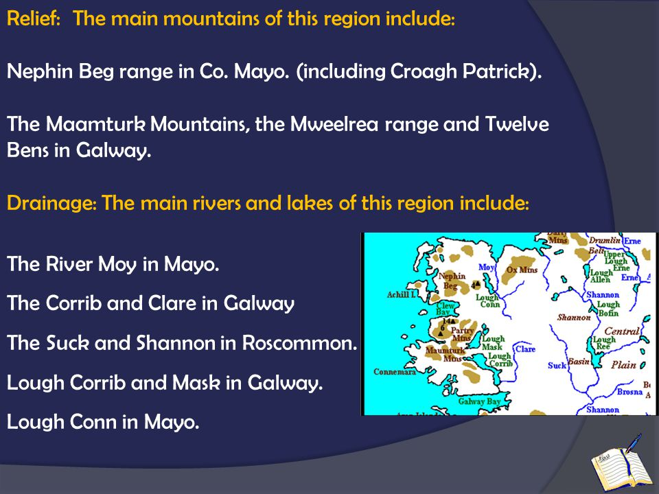 Relief: The main mountains of this region include:
