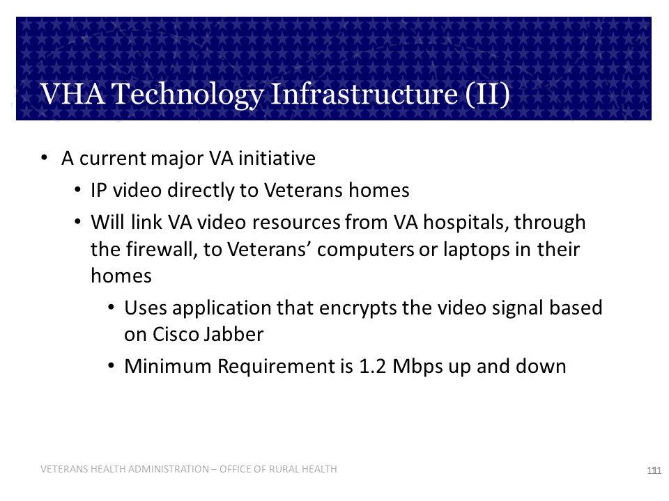 VHA Technology Infrastructure (II)