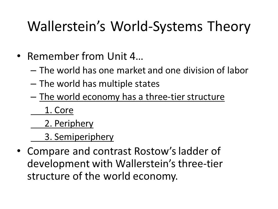 Wallerstein's World-Systems Theory