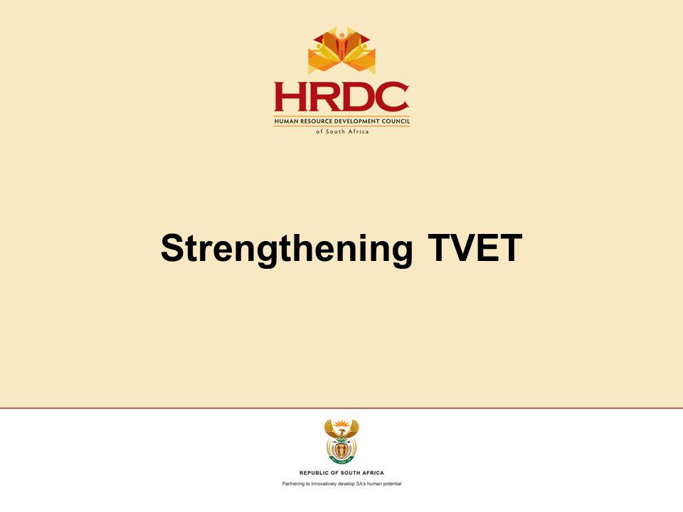 Strengthening TVET