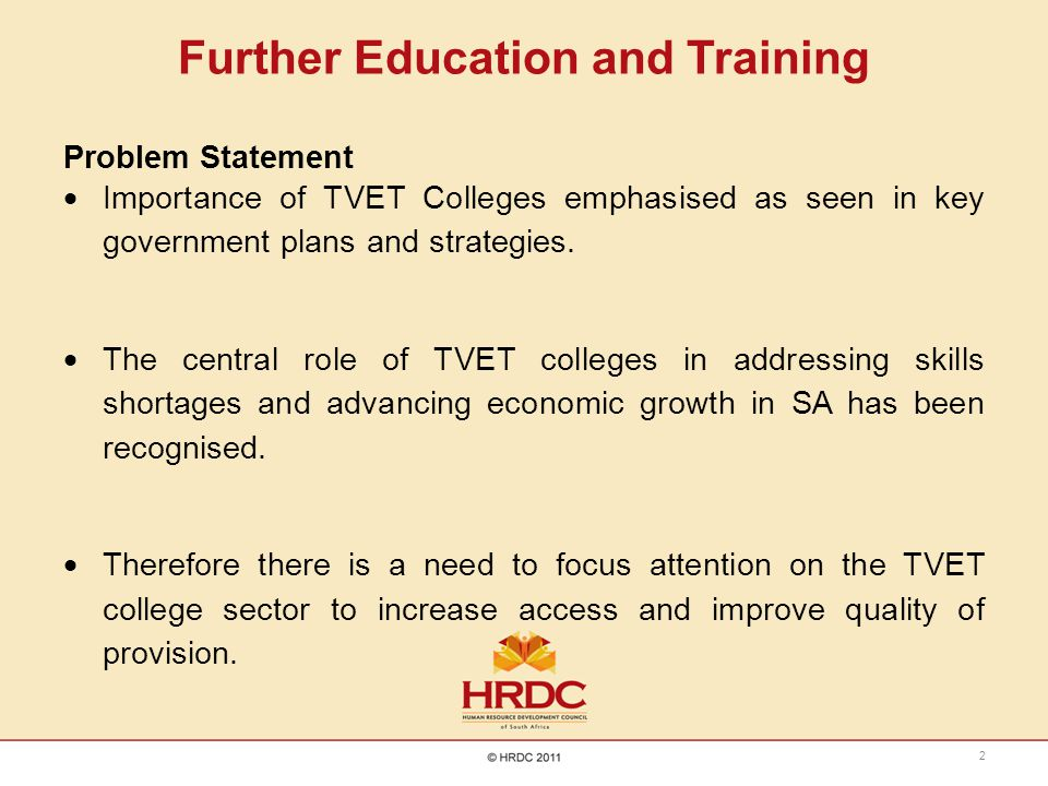 Further Education and Training