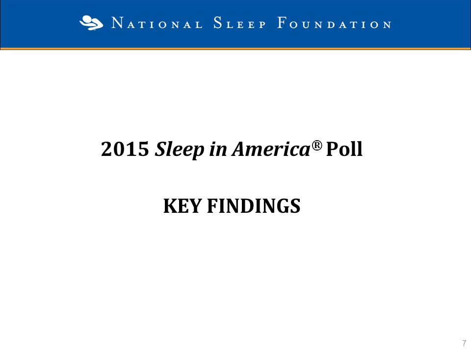 2015 Sleep in America® Poll Key Findings