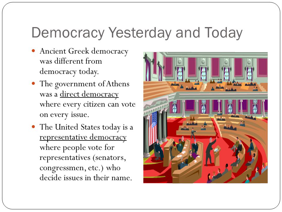 Democracy Yesterday and Today