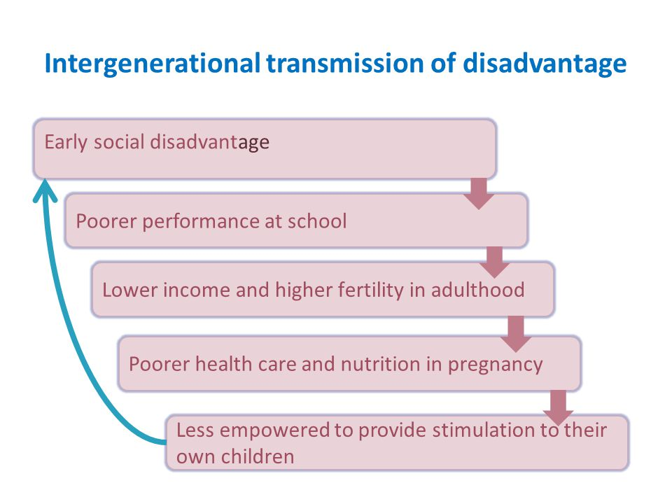 Intergenerational transmission of disadvantage