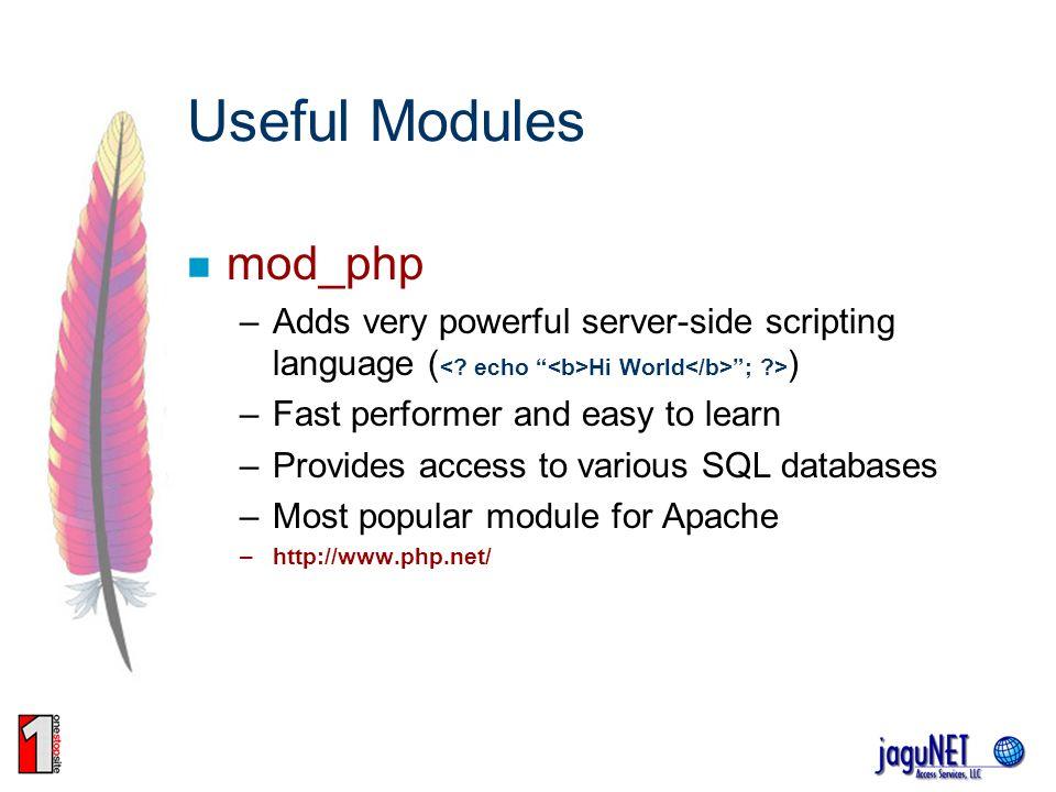 Useful Modules mod_php