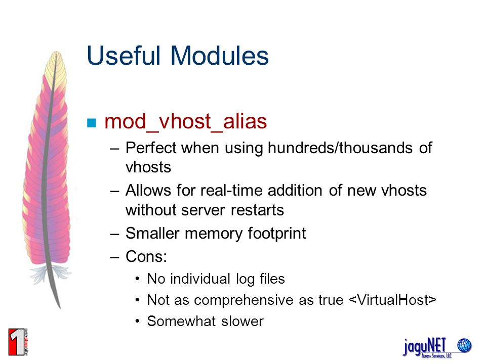 Useful Modules mod_vhost_alias