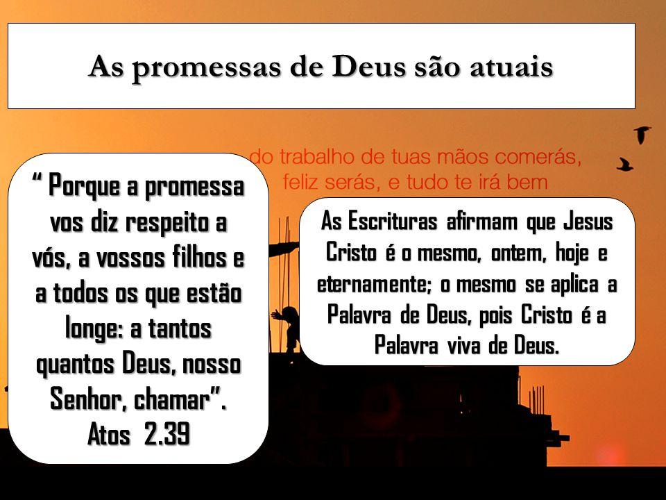 As promessas de Deus são atuais