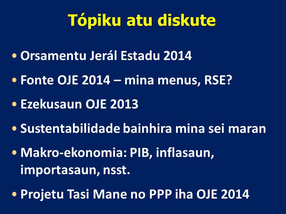 Tópiku atu diskute Orsamentu Jerál Estadu 2014