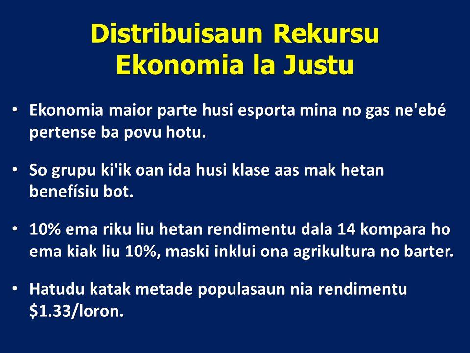 Distribuisaun Rekursu Ekonomia la Justu