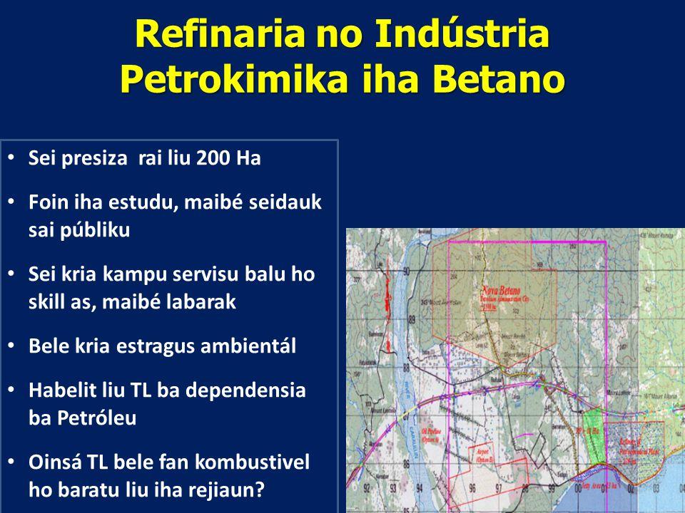 Refinaria no Indústria Petrokimika iha Betano