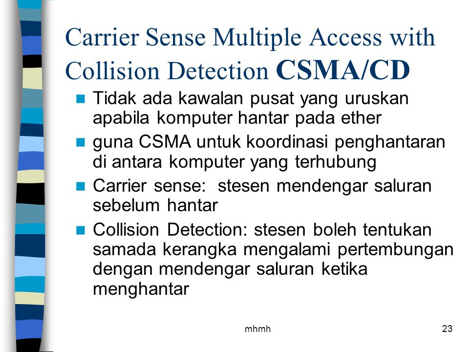 Carrier Sense Multiple Access with Collision Detection CSMA/CD