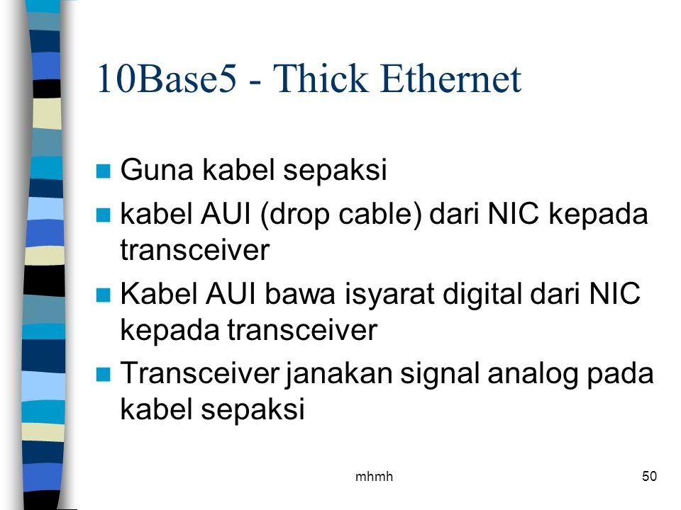 10Base5 - Thick Ethernet Guna kabel sepaksi