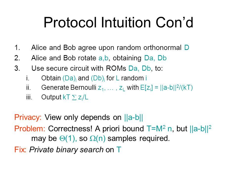 Protocol Intuition Con'd