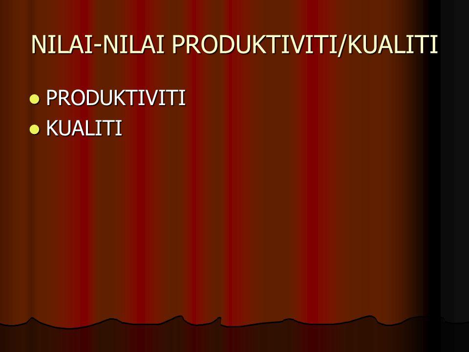 NILAI-NILAI PRODUKTIVITI/KUALITI