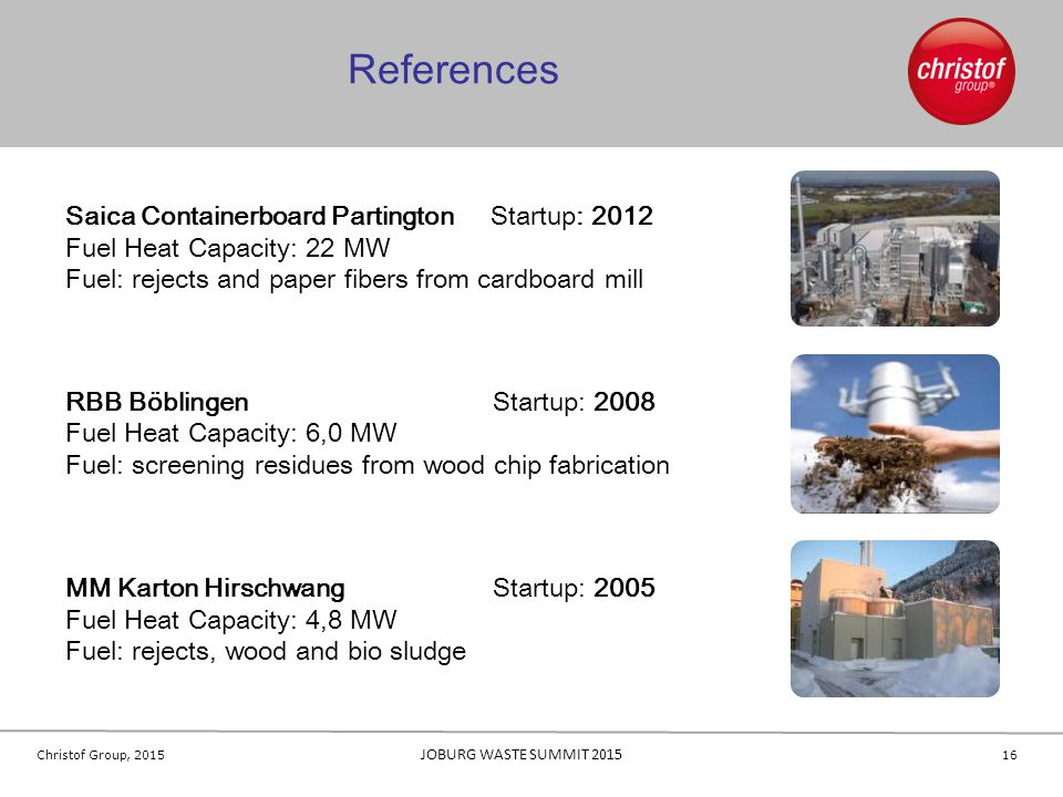 References Saica Containerboard Partington Startup: 2012