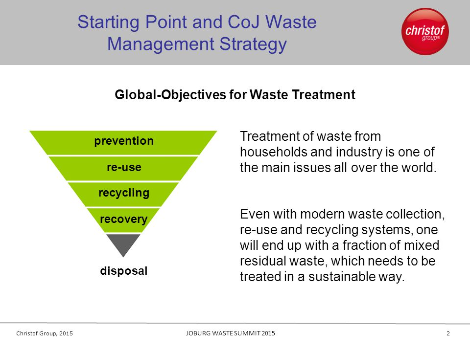 Global-Objectives for Waste Treatment
