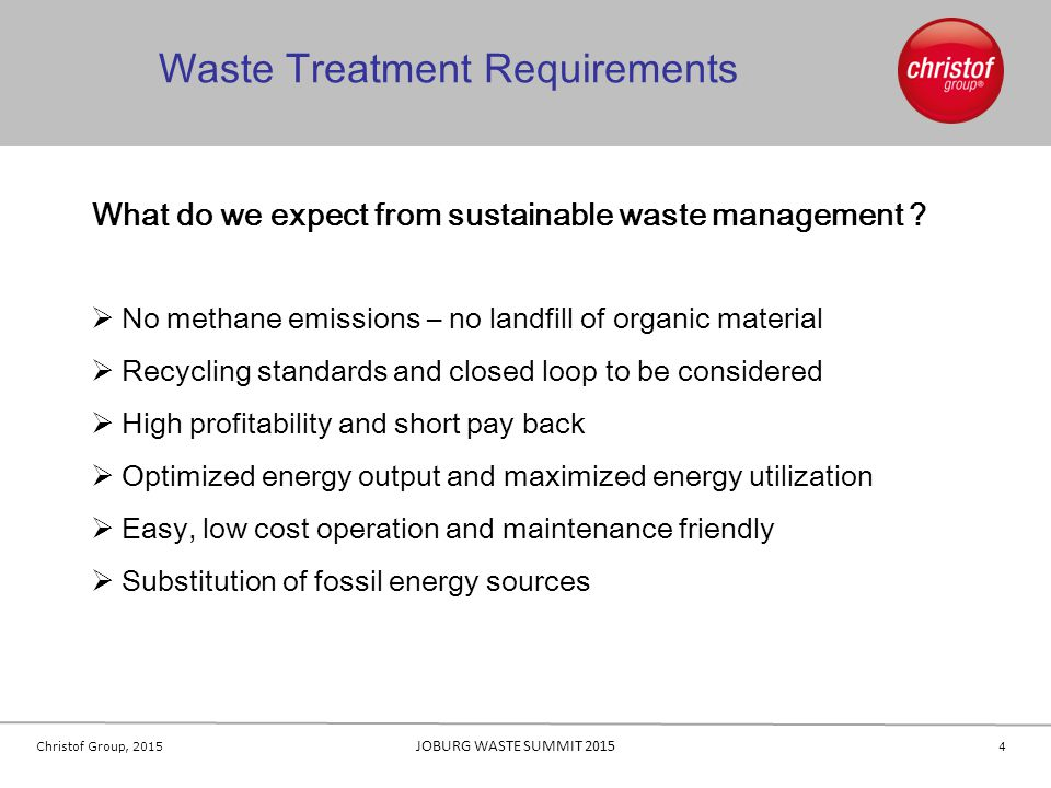 Waste Treatment Requirements
