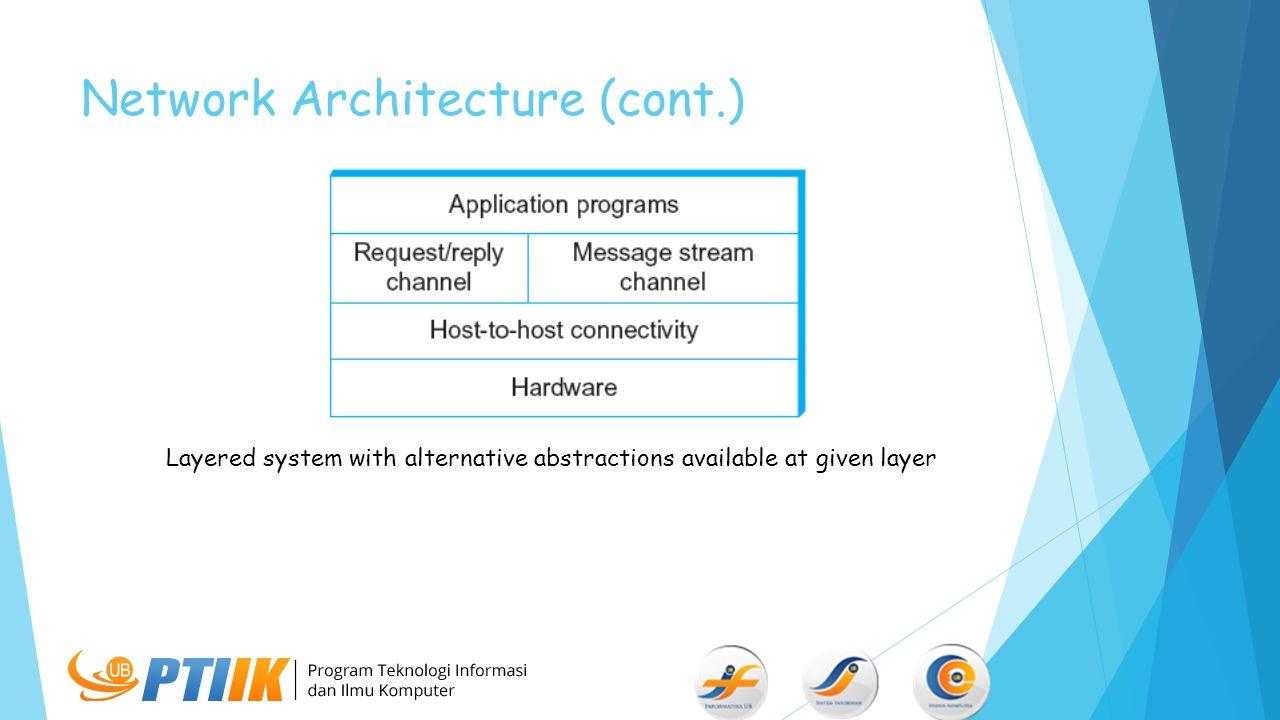 Network Architecture (cont.)