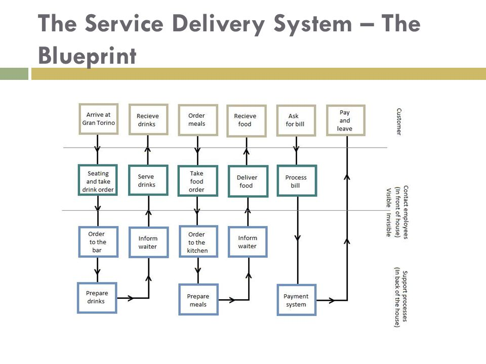 The Service Delivery System – The Blueprint
