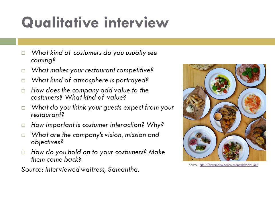 Qualitative interview