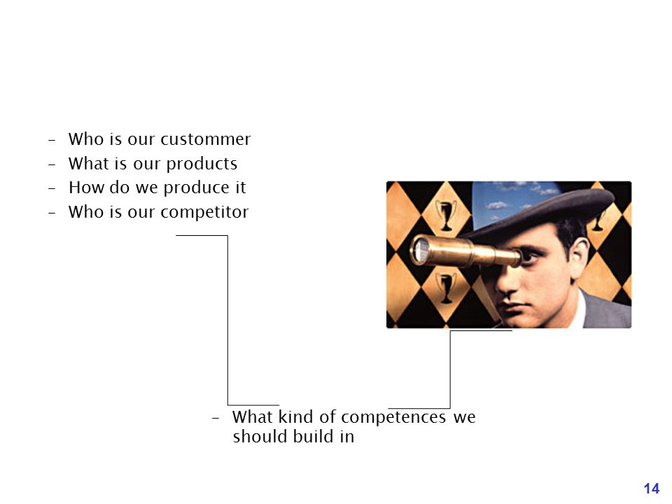 Who is our custommer What is our products. How do we produce it.