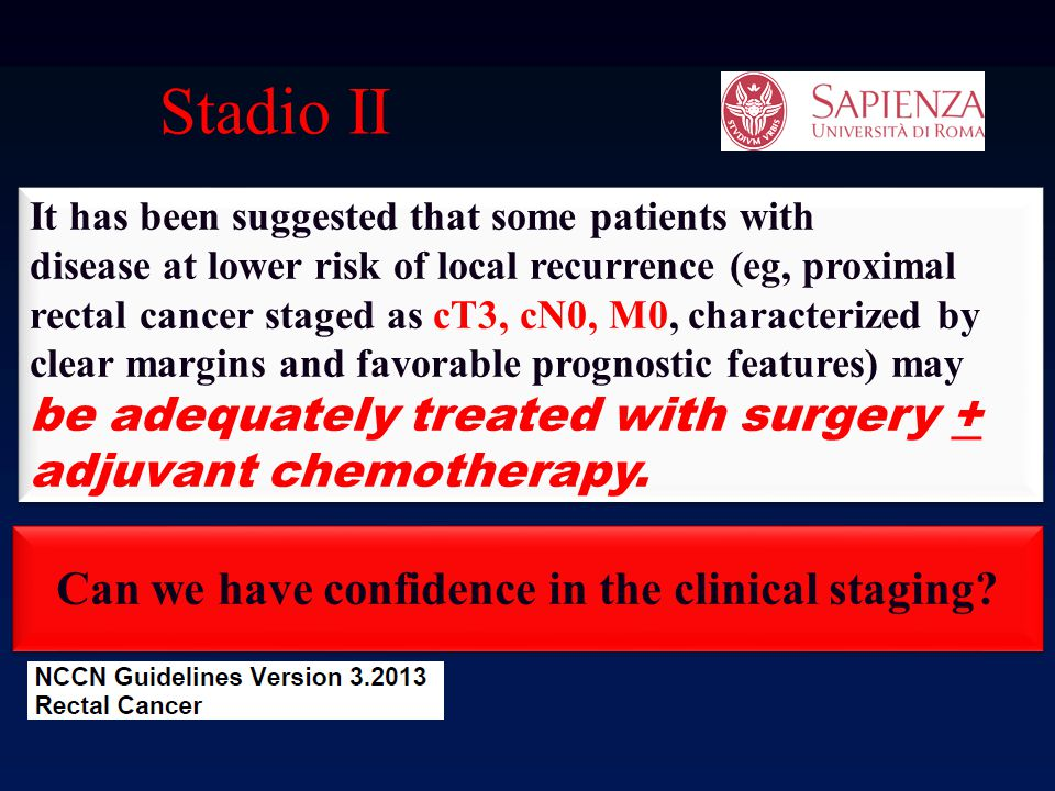 Can we have confidence in the clinical staging